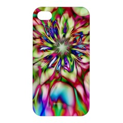 Magic Fractal Flower Multicolored Apple Iphone 4/4s Hardshell Case