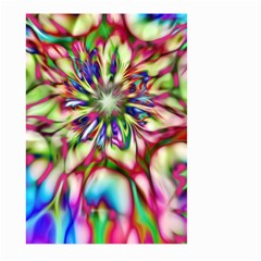 Magic Fractal Flower Multicolored Large Garden Flag (two Sides) by EDDArt
