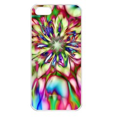 Magic Fractal Flower Multicolored Apple Iphone 5 Seamless Case (white) by EDDArt