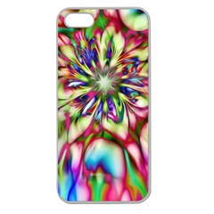 Magic Fractal Flower Multicolored Apple Seamless Iphone 5 Case (clear) by EDDArt