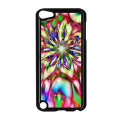 Magic Fractal Flower Multicolored Apple Ipod Touch 5 Case (black) by EDDArt
