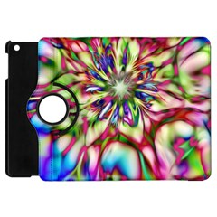 Magic Fractal Flower Multicolored Apple Ipad Mini Flip 360 Case by EDDArt