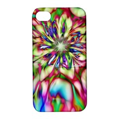 Magic Fractal Flower Multicolored Apple Iphone 4/4s Hardshell Case With Stand by EDDArt