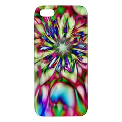 Magic Fractal Flower Multicolored Apple Iphone 5 Premium Hardshell Case by EDDArt