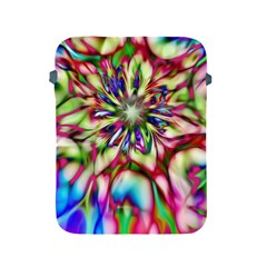 Magic Fractal Flower Multicolored Apple Ipad 2/3/4 Protective Soft Cases by EDDArt