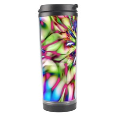 Magic Fractal Flower Multicolored Travel Tumbler by EDDArt