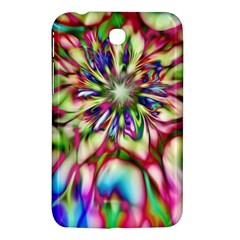 Magic Fractal Flower Multicolored Samsung Galaxy Tab 3 (7 ) P3200 Hardshell Case  by EDDArt
