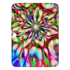 Magic Fractal Flower Multicolored Samsung Galaxy Tab 3 (10 1 ) P5200 Hardshell Case  by EDDArt