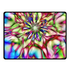 Magic Fractal Flower Multicolored Double Sided Fleece Blanket (small)  by EDDArt