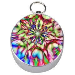 Magic Fractal Flower Multicolored Silver Compasses by EDDArt