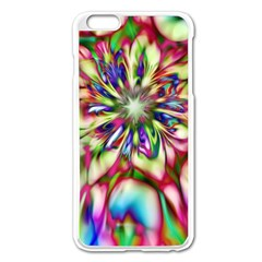 Magic Fractal Flower Multicolored Apple Iphone 6 Plus/6s Plus Enamel White Case by EDDArt