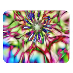 Magic Fractal Flower Multicolored Double Sided Flano Blanket (large)  by EDDArt
