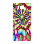 Magic Fractal Flower Multicolored Samsung Galaxy Alpha Hardshell Back Case Front