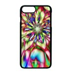 Magic Fractal Flower Multicolored Apple iPhone 7 Plus Seamless Case (Black) Front