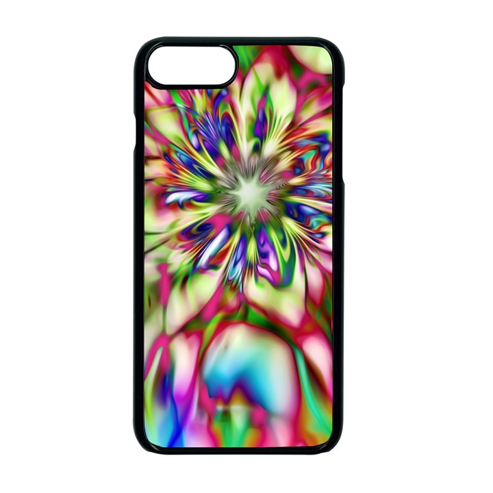 Magic Fractal Flower Multicolored Apple iPhone 7 Plus Seamless Case (Black)