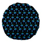 Floral pattern Large 18  Premium Round Cushions Back