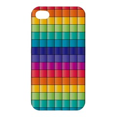 Pattern Grid Squares Texture Apple Iphone 4/4s Hardshell Case by Amaryn4rt