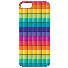 Pattern Grid Squares Texture Apple Iphone 5 Classic Hardshell Case by Amaryn4rt