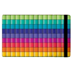 Pattern Grid Squares Texture Apple Ipad 3/4 Flip Case by Amaryn4rt