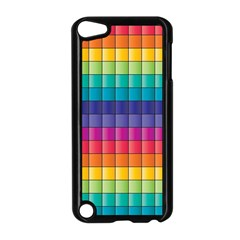 Pattern Grid Squares Texture Apple Ipod Touch 5 Case (black) by Amaryn4rt