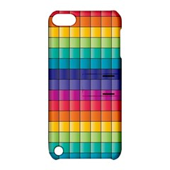 Pattern Grid Squares Texture Apple Ipod Touch 5 Hardshell Case With Stand by Amaryn4rt