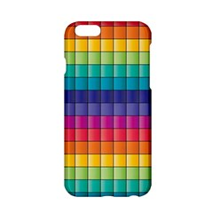 Pattern Grid Squares Texture Apple Iphone 6/6s Hardshell Case by Amaryn4rt