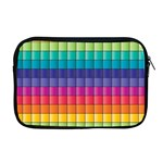 Pattern Grid Squares Texture Apple MacBook Pro 17  Zipper Case Front
