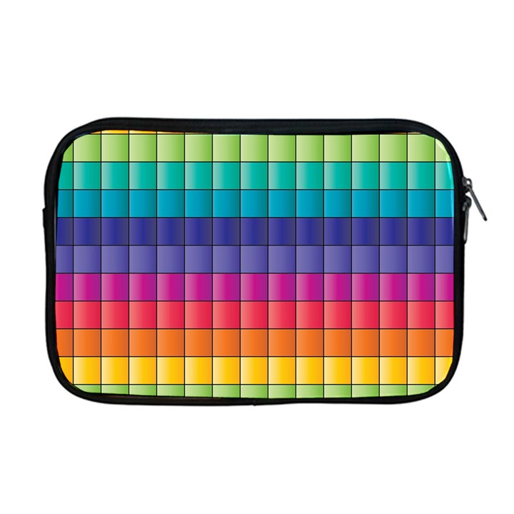 Pattern Grid Squares Texture Apple MacBook Pro 17  Zipper Case