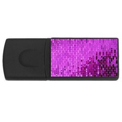 Purple Background Scrapbooking Paper Usb Flash Drive Rectangular (4 Gb) by Amaryn4rt