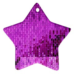 Purple Background Scrapbooking Paper Star Ornament (two Sides) by Amaryn4rt