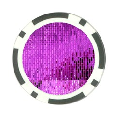 Purple Background Scrapbooking Paper Poker Chip Card Guard