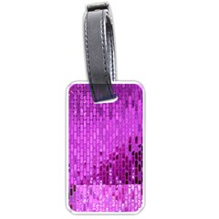 Purple Background Scrapbooking Paper Luggage Tags (one Side)