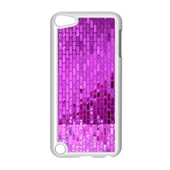 Purple Background Scrapbooking Paper Apple Ipod Touch 5 Case (white)
