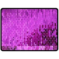 Purple Background Scrapbooking Paper Double Sided Fleece Blanket (large)  by Amaryn4rt