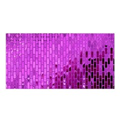 Purple Background Scrapbooking Paper Satin Shawl by Amaryn4rt