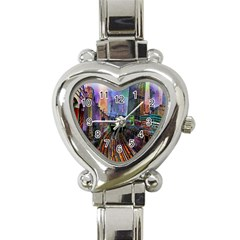 Downtown Chicago Heart Italian Charm Watch by Amaryn4rt