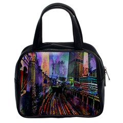 Downtown Chicago Classic Handbags (2 Sides) by Amaryn4rt