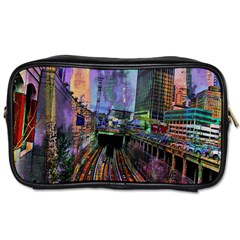 Downtown Chicago Toiletries Bags by Amaryn4rt