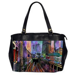 Downtown Chicago Office Handbags (2 Sides)  by Amaryn4rt