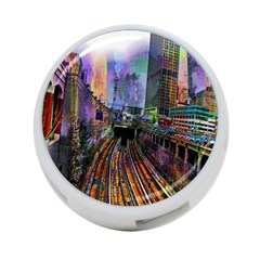 Downtown Chicago 4 Port Usb Hub (two Sides)  by Amaryn4rt