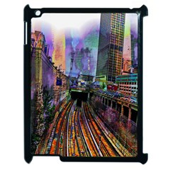 Downtown Chicago Apple Ipad 2 Case (black) by Amaryn4rt