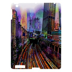 Downtown Chicago Apple Ipad 3/4 Hardshell Case by Amaryn4rt