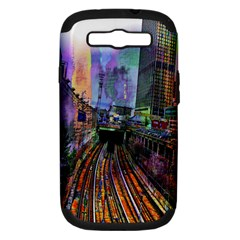 Downtown Chicago Samsung Galaxy S Iii Hardshell Case (pc+silicone) by Amaryn4rt