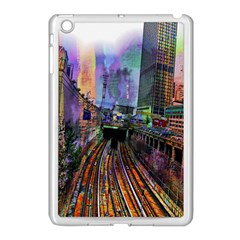Downtown Chicago Apple Ipad Mini Case (white) by Amaryn4rt