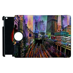 Downtown Chicago Apple Ipad 3/4 Flip 360 Case by Amaryn4rt