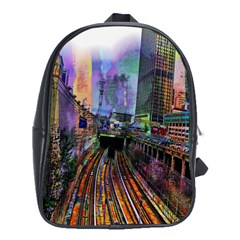 Downtown Chicago School Bags (xl)  by Amaryn4rt