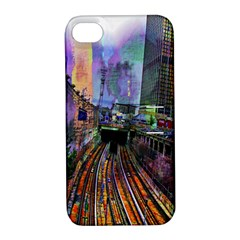 Downtown Chicago Apple Iphone 4/4s Hardshell Case With Stand by Amaryn4rt