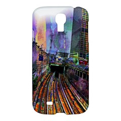 Downtown Chicago Samsung Galaxy S4 I9500/i9505 Hardshell Case by Amaryn4rt