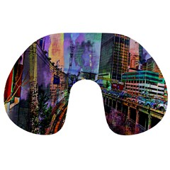 Downtown Chicago Travel Neck Pillows by Amaryn4rt