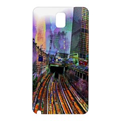 Downtown Chicago Samsung Galaxy Note 3 N9005 Hardshell Back Case by Amaryn4rt